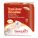 Tranquility 3096 TopLiner Booster Contour Pad-Large Diaper 120/Case